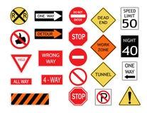 Panneaux routiers et symboles Illustration de vecteur illustration de vecteur