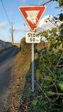 Panneaux routiers européens Photo libre de droits