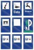 Panneaux routiers utilisés en Espagne illustration libre de droits