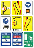 Panneaux routiers utilisés en Slovaquie Image stock