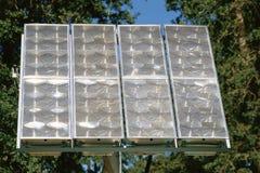 Panneaux solaires à la maison Photographie stock libre de droits