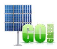 Panneaux solaires d'image d'énergie renouvelable illustration de vecteur
