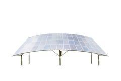 Panneaux solaires d'isolement sur le blanc photos libres de droits