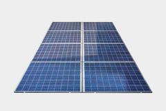 Panneaux solaires d'isolement sur le fond blanc photographie stock libre de droits