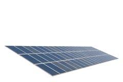 Panneaux solaires d'isolement sur le fond blanc Avec le chemin de coupure photographie stock libre de droits