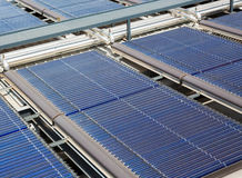 Panneaux solaires de l'eau Photo libre de droits
