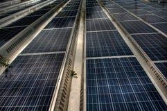 Panneaux solaires HDR image libre de droits