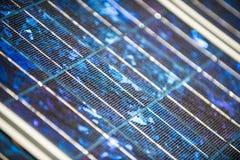 Panneaux solaires sur le foor Photographie stock