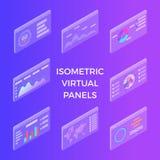Panneaux virtuels isométriques photographie stock