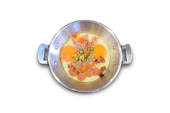 Panned egg. Is breakfast morning Royalty Free Stock Images
