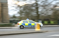 Panned Police Car Stock Images