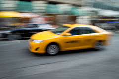 Panned Taxi Royalty Free Stock Photography