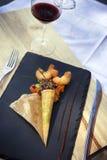 Pannekoek en groente Stock Afbeelding