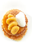 Pannekoek met Bananen Royalty-vrije Stock Foto