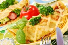 Pannekoek met broccoli Stock Foto's