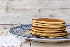 Pannekoek met chocolade stock fotografie