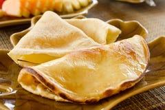 Pannekoek met omelet royalty-vrije stock afbeelding