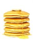 Pannekoeken met stroop en boter Stock Foto's
