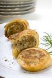 Pannekoeken met vlees Stock Afbeelding