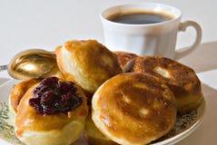 Pannekoeken om te ontbijten Stock Foto