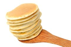 Pannekoeken op Spatel stock foto's