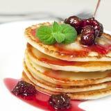 Pannekoeken voor ontbijt Stock Foto's