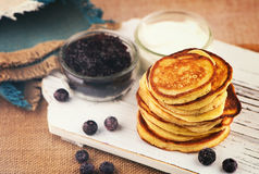 Pannekoeken voor ontbijt Royalty-vrije Stock Foto's