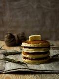 Pannekoekontbijt Stock Foto's