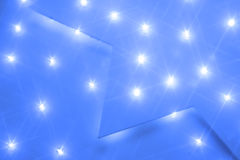 Pannel with white diodes. Light and shine, stars and nice blue colors Stock Image