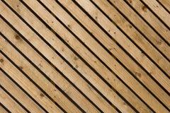 Pannellatura diagonale di legno Immagine Stock
