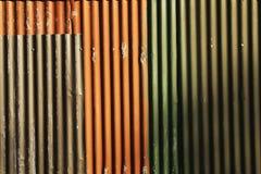 Pannelli del ferro ondulato Fotografie Stock Libere da Diritti