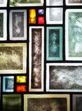 Pannelli della finestra di vetro macchiato Fotografie Stock