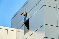 Pannelli di alluminio del alubond e della facciata Immagine Stock