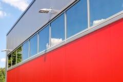 Pannelli di alluminio del alubond e della facciata Immagini Stock