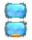 Pannelli di cristallo blu, beni del gioco Immagini Stock Libere da Diritti