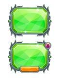 Pannelli di cristallo verdi, beni del gioco Fotografie Stock