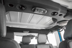 Pannelli smontabili in una jeep Immagini Stock Libere da Diritti