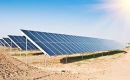 Pannelli solari Fotografie Stock