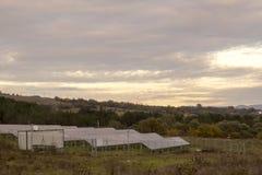 Pannelli solari anziani Fotografia Stock Libera da Diritti