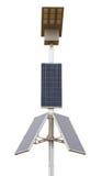 Pannelli solari con la lampada principale sopra bianco Immagini Stock Libere da Diritti