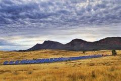 Pannelli solari del franco Fotografie Stock
