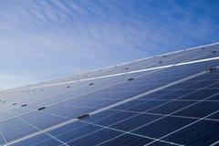 Pannelli solari del primo piano Immagine Stock