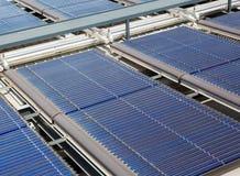 Pannelli solari dell'acqua Fotografia Stock Libera da Diritti