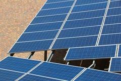 Pannelli solari dell'Italia Immagine Stock