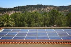 Pannelli solari in Italia Immagini Stock Libere da Diritti