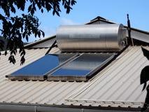 Pannelli solari nelle Antille. Fotografie Stock Libere da Diritti