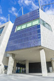 Pannelli solari su costruzione di ottimo rendimento, di conservazione ed economizzatrice d'energia a Melbourne, Australia Immagine Stock
