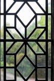 Pannello al piombo decorativo della finestra Immagine Stock