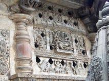 Pannello antico delle sculture Fotografia Stock