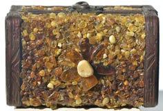 Pannello con ambra intarsiata Fotografie Stock Libere da Diritti